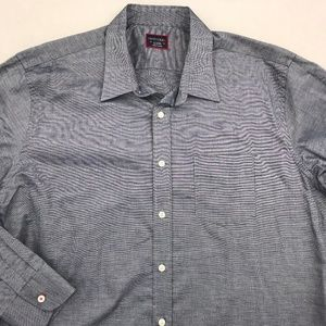 UNTUCKIT LONG SLEEVE BUTTON DOWN SHIRT XL GRAY